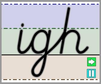 Cursive igh join tall