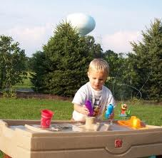 boy water play