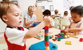 Young children pattern brick skills