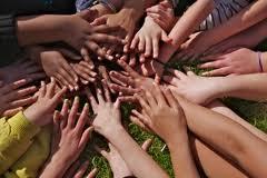 mass of hands